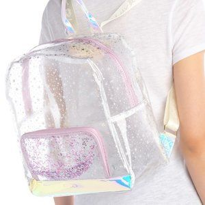 BETSEY JOHNSON Full Size Clear Printed Backpack